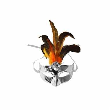 Metallic zilver oog masker plastic