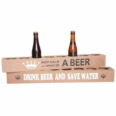 Meter bierlat voor 8 flesjes