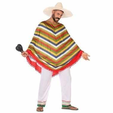 Mexicaans verkleed kostuum/poncho voor heren
