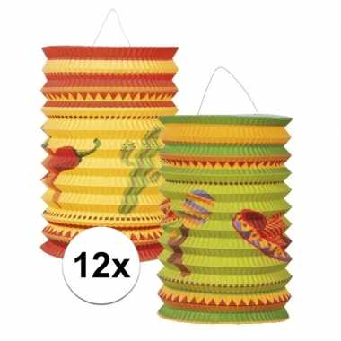 Mexicaanse lantaarns 12 stuks