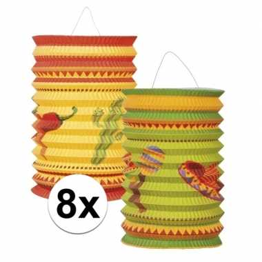 Mexicaanse lantaarns 8 stuks
