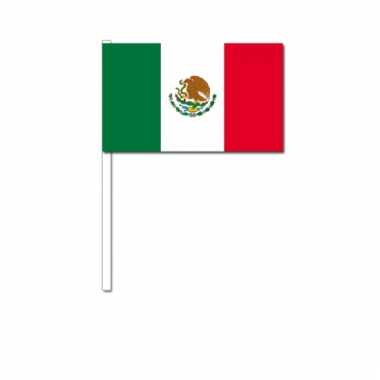 Mexico zwaai vlaggetjes 12 x 24 cm