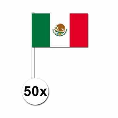 Mexico zwaai vlaggetjes set van 50