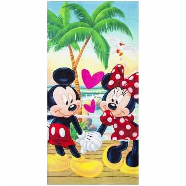 Mickey en minnie badlaken/strandlaken 70 x 140 cm