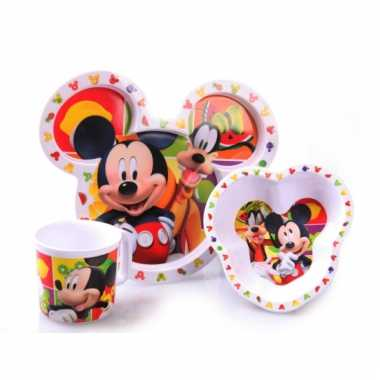 Mickey mouse ontbijtset
