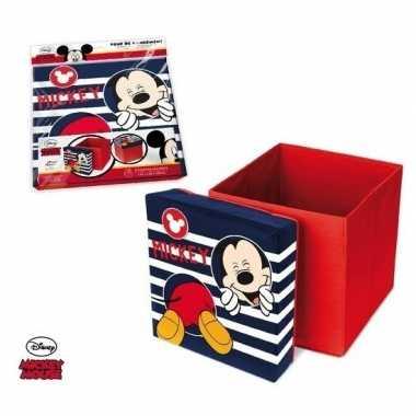 Mickey mouse poef/zitje en opbergbox in 1