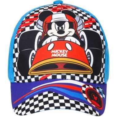 Mickey mouse zomer petten/caps blauw voor kids