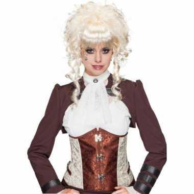 Middeleeuwse damespruik blond