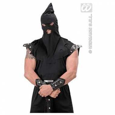 Middeleeuwse hoofdkap zwart