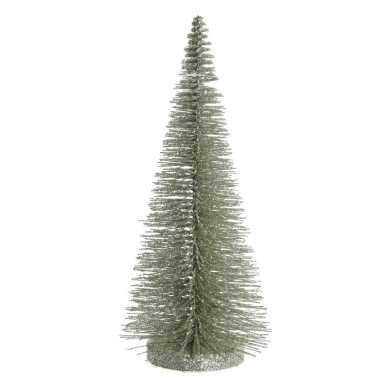 Mini decoratie kerstboompje van 30 cm in het lichtgroen