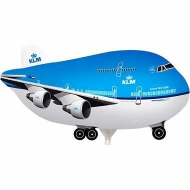 Mini folie luchtballon klm vliegtuig 21 cm