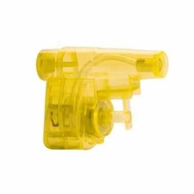 Mini hand waterpistool geel 5 cm
