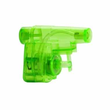 Mini hand waterpistool groen 5 cm