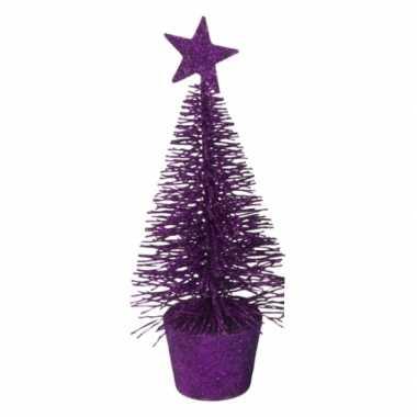 Mini kerstmis decoratie boompje paars