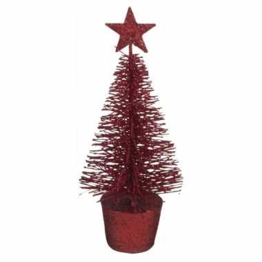 Mini kerstmis decoratie boompje rood