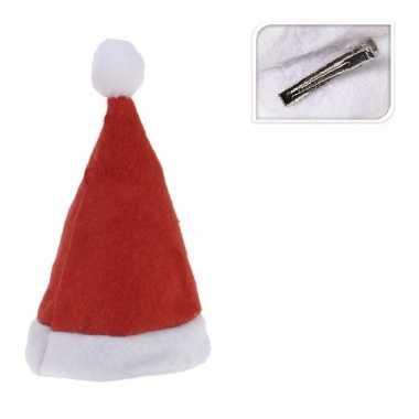Mini kerstmutsje op clip
