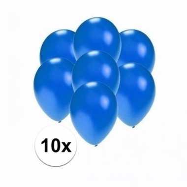 Mini metallic blauwe ballonnetjes 10 stuks