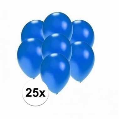 Mini metallic blauwe ballonnetjes 25 stuks