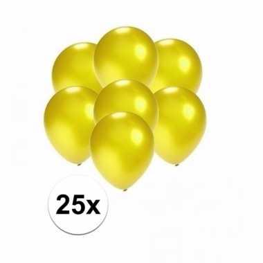 Mini metallic gele ballonnetjes 25 stuks