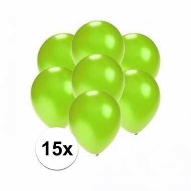 Mini metallic groene ballonnetjes 15 stuks