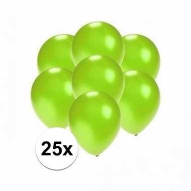 Mini metallic groene ballonnetjes 25 stuks