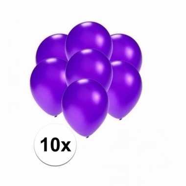 Mini metallic paarse ballonnetjes 10 stuks