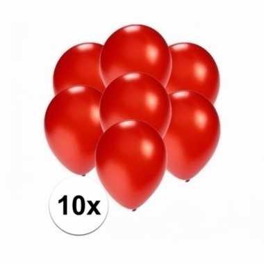 Mini metallic rode ballonnetjes 10 stuks