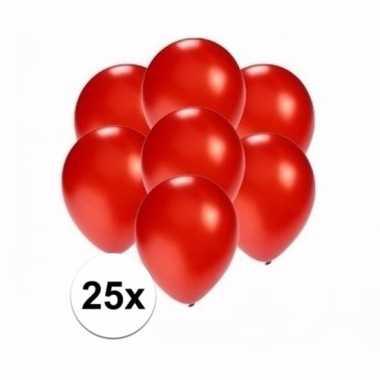Mini metallic rode ballonnetjes 25 stuks