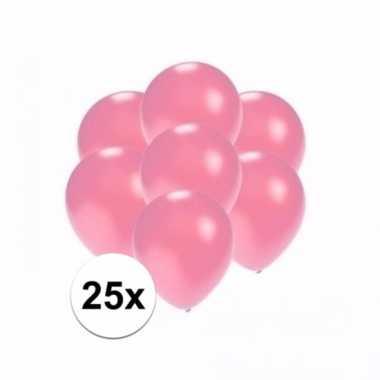 Mini metallic roze ballonnetjes 25 stuks
