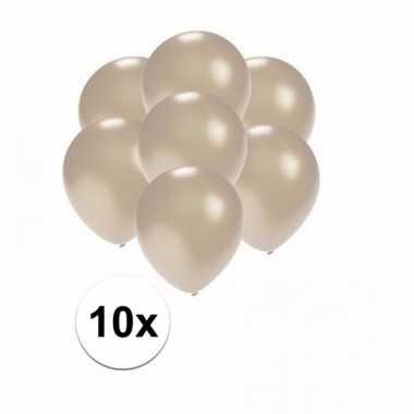Mini metallic zilveren ballonnetjes 10 stuks