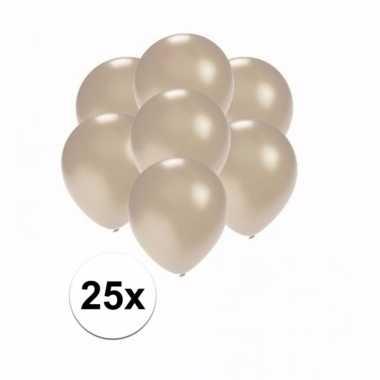 Mini metallic zilveren ballonnetjes 25 stuks