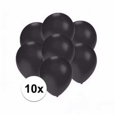 Mini metallic zwarte ballonnetjes 10 stuks