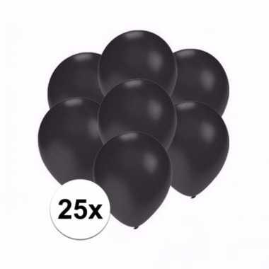 Mini metallic zwarte ballonnetjes 25 stuks