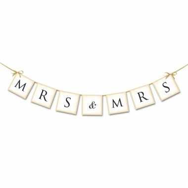 Mini slinger bruiloft mrs & mrs