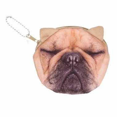 Mini tasje franse bulldog hond