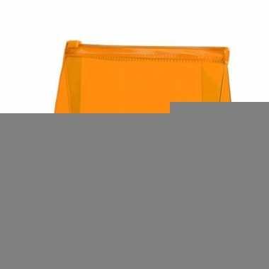 Mini toilettas oranje 17 cm