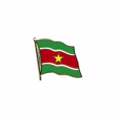 Mini vlaggetjes pin suriname