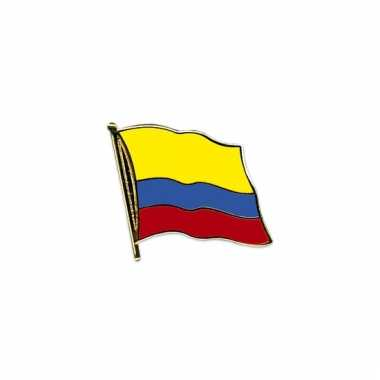 Mini vlaggetjes pins colombia