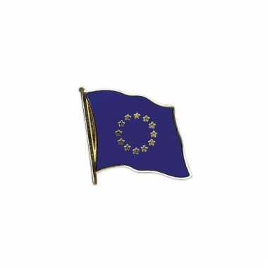 Mini vlaggetjes pins europa