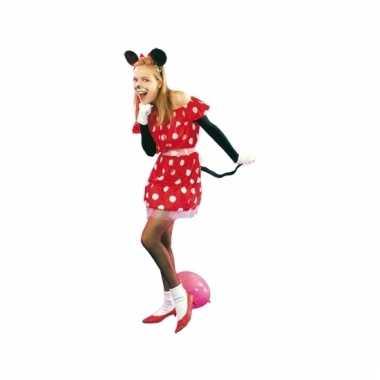Minie muizen jurkje rood
