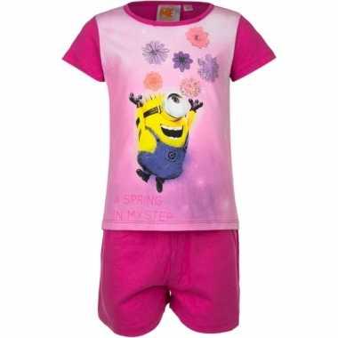 Minions bloemen korte pyjama meisjes