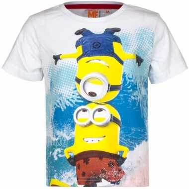 Minions kinder t-shirt wit