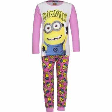 Minions pyjama roze voor meisjes