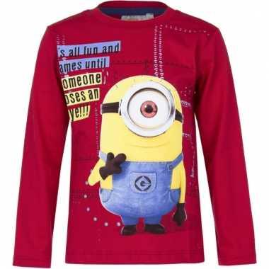Minions t-shirt rood voor jongens