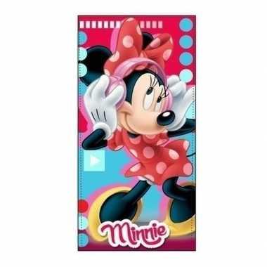 Minnie mouse badlaken/strandlaken muziek 70 x 140 cm