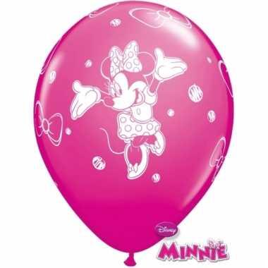 Minnie mouse kinderfeestje ballonnen 6x