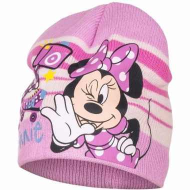 Minnie mouse muts roze voor meisjes