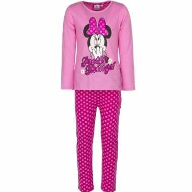 Minnie mouse pyjama roze voor meiden