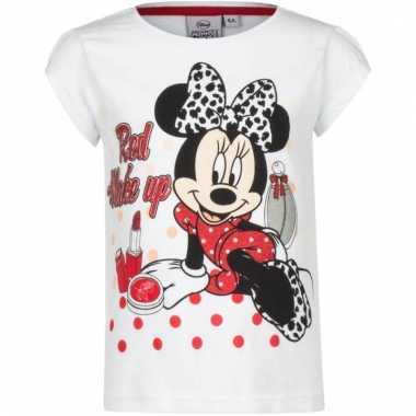 Minnie mouse t-shirt wit voor meisjes