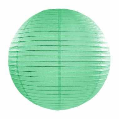 Mint groene bol lampion 35 cm